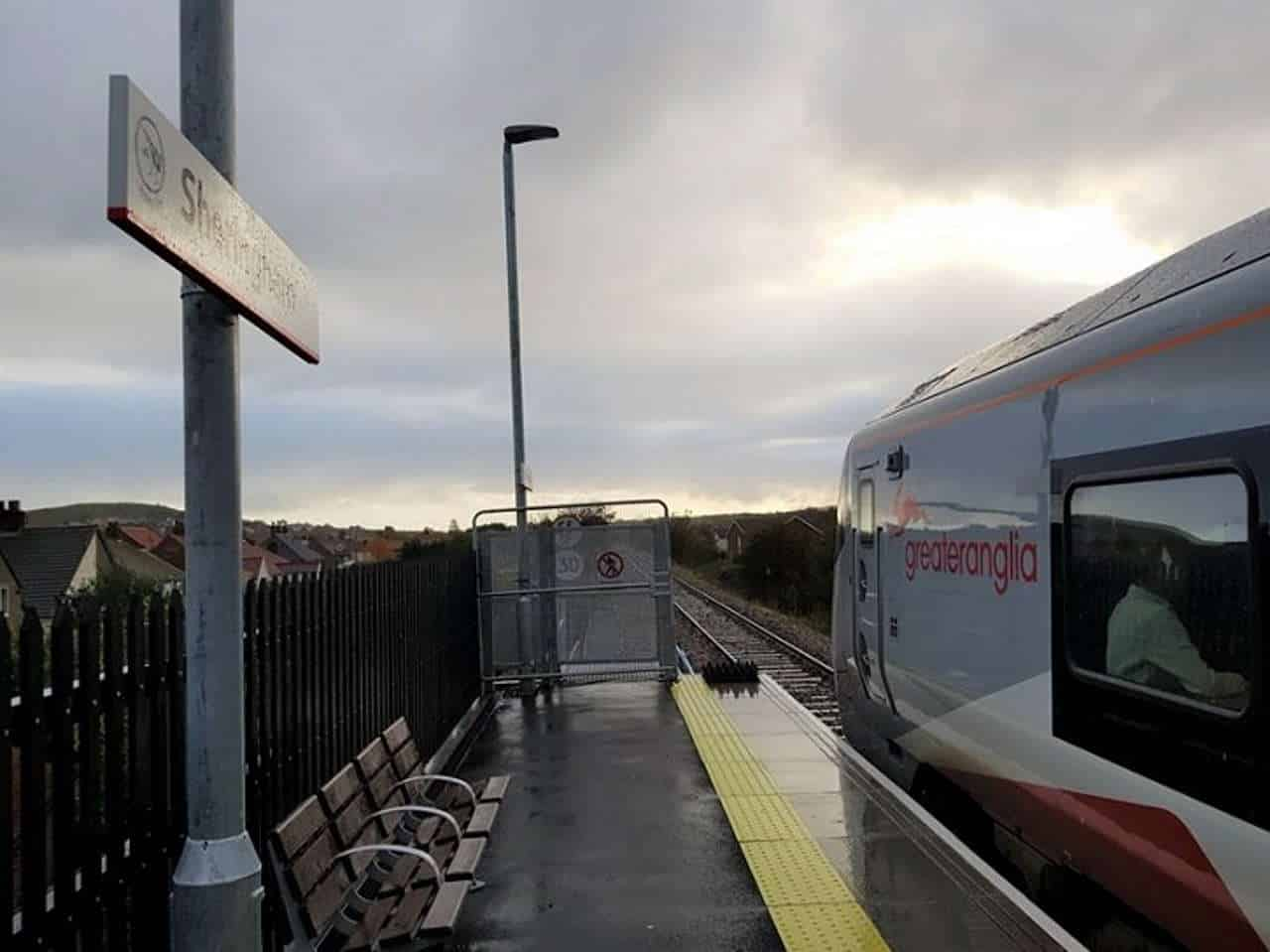 Greater Anglia Train at Sheringham on the bittern line