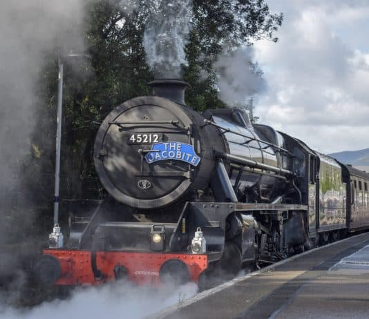 45212 on The Jacobite steam train
