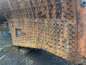 Close Up of 73050's Boiler Repairs // Credit Wansford MPD - Home of the NVR Engineering Dept.