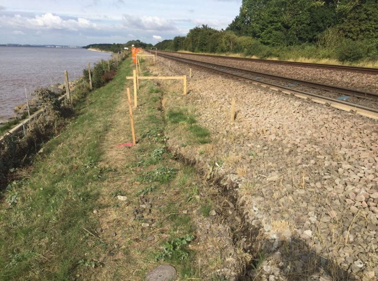 East Yorkshire railway embankment