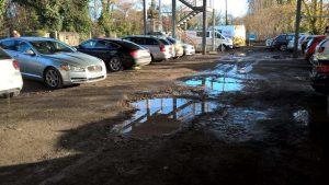 Fleet station car park before improvements