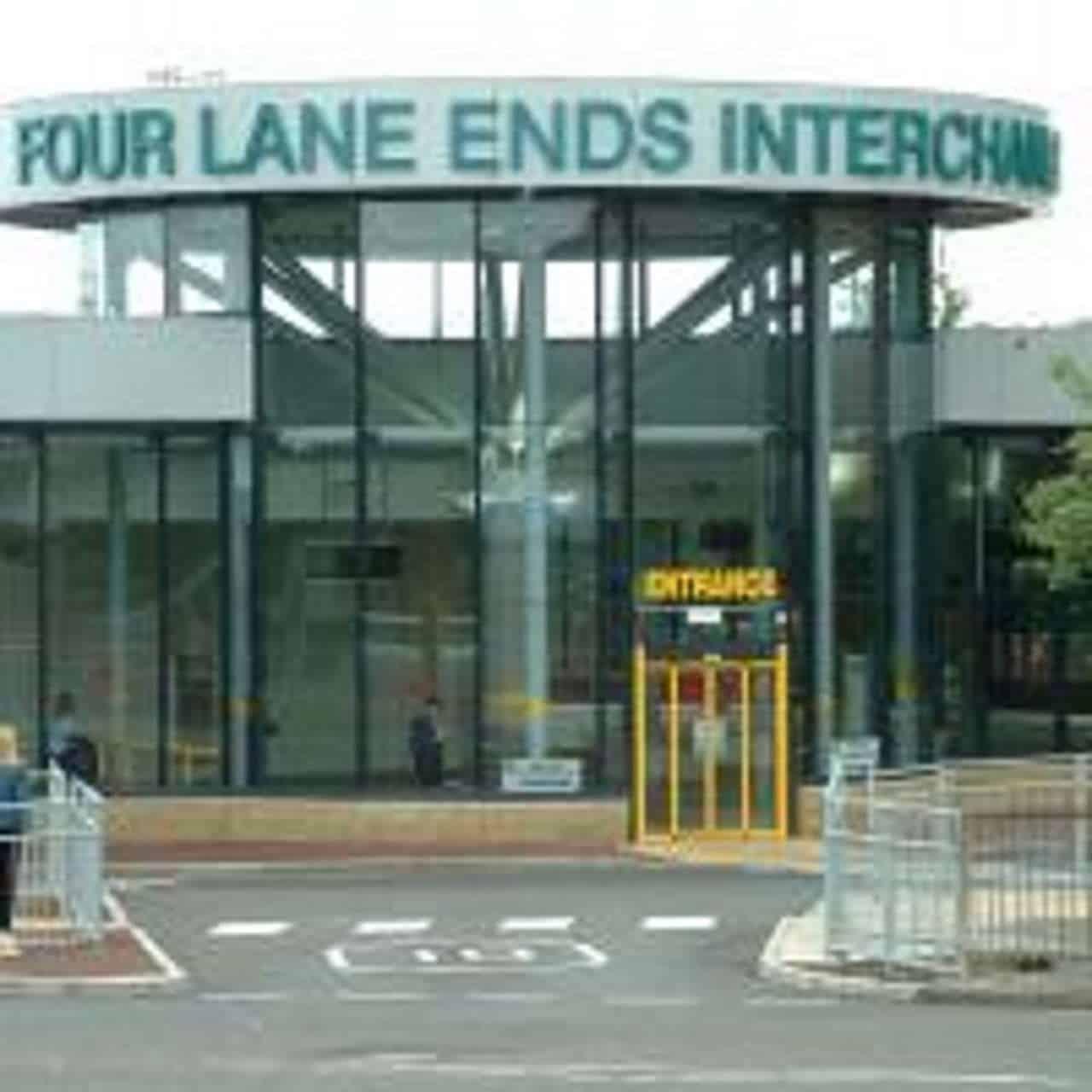 Four Lane Ends interchange