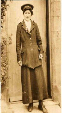 Hannah Readman, Railway porter, Goathland, WW1, courtesy of Pat Sellars