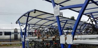 Harpenden station cycle parking