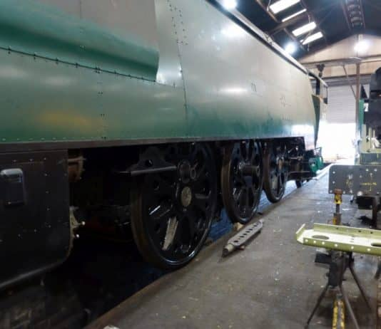 Re-wheeled 34105 Swanage // Credit MHR