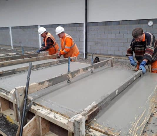 Smoothing the Concrete // Credit Clive Whitcroft