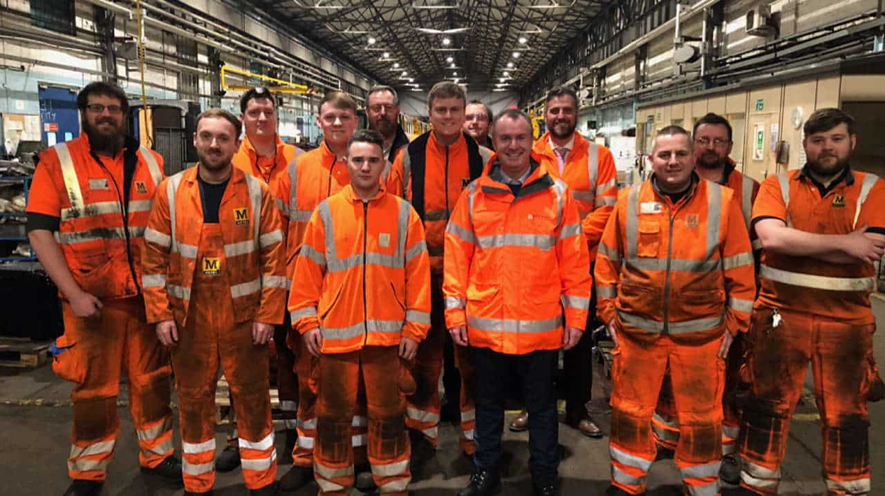 Tyne and wear metro boss back to the floor