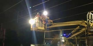 overhead lines repairs at south kenton