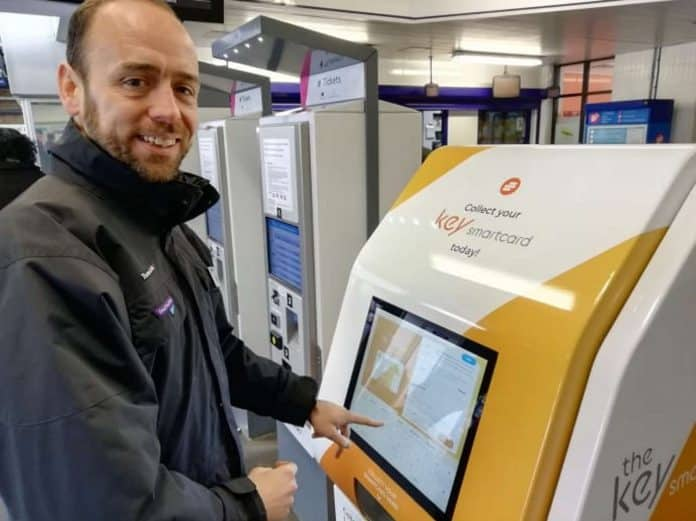 Passengers can now pick up smartcards at railway stations