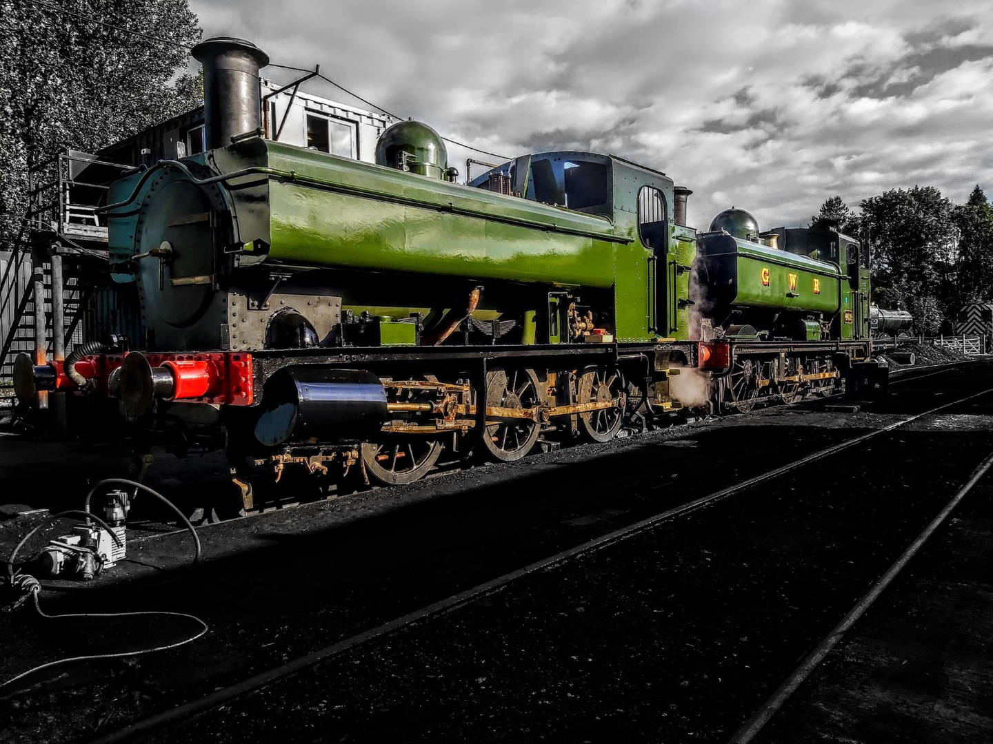 1369 and 4912 at South Devon Railway // Credit Charlie Greasley