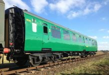 Bulleid carriage 1456 in Service // Credit MHR