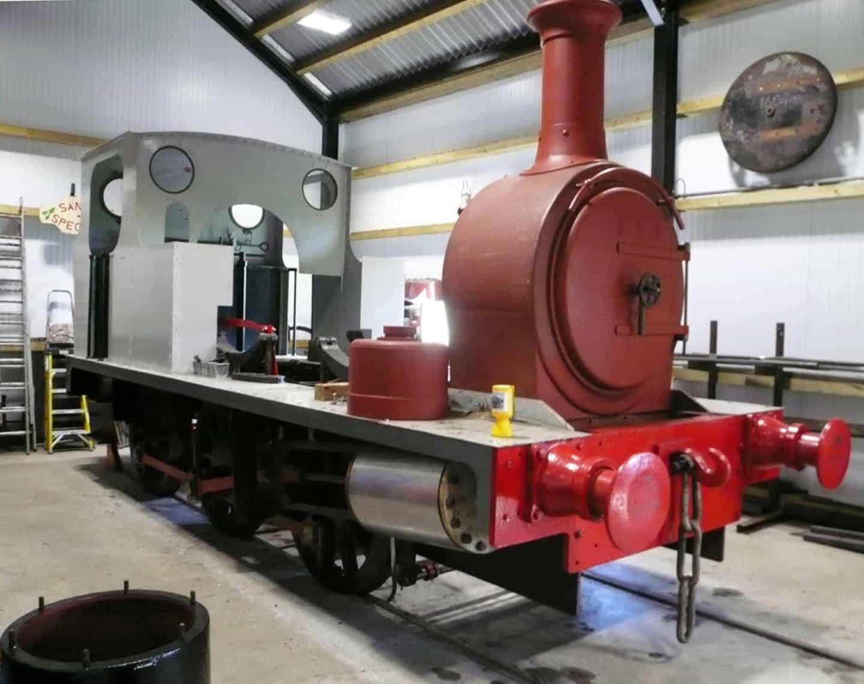 1604 steam locomtive Under Restoration // Credit Mid-Suffolk Light Railway