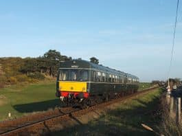 Class 101 DMU Set, Power Car No.E51228 and Trailer Unit E56062 North Norfolk Railway // Credit Chris Moxon