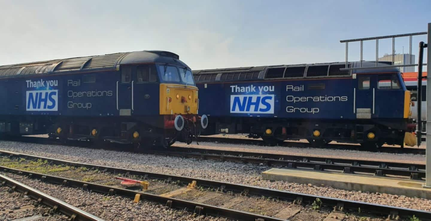 "Rail Operations Group NHS Class 47's with ""Thank You NHS"" // Credit Rail Operations (UK) Ltd"