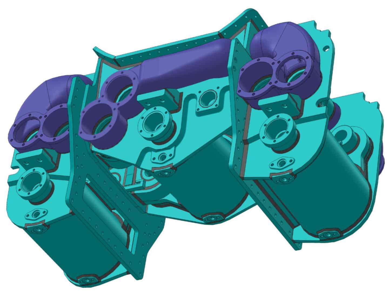Cylinder Block CAD drawing // Credit David Elliott