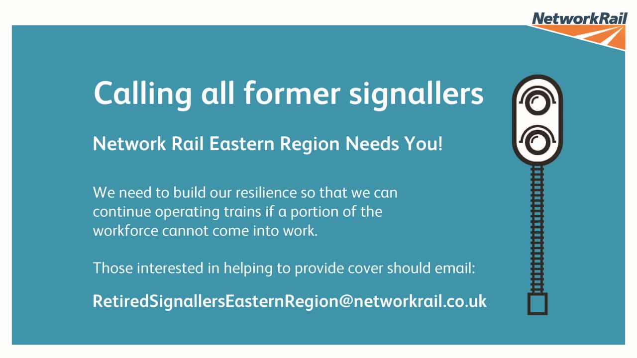 Network Rail appeals for former signallers to keep vital train services moving