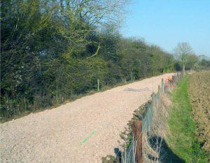 Newly Laid Ballast // Credit Mid-Suffolk Light Railway