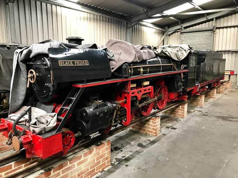 Steam locomotive 11 Black Prince in Storage in 2019 // Credit RHDR