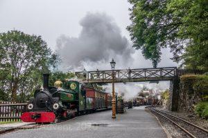 Linda arrives at Tanybwlch on the Ffestiniog Railway