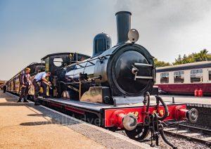 Steam locomotive no. 564 at Sheringham on the North Norfolk Railway