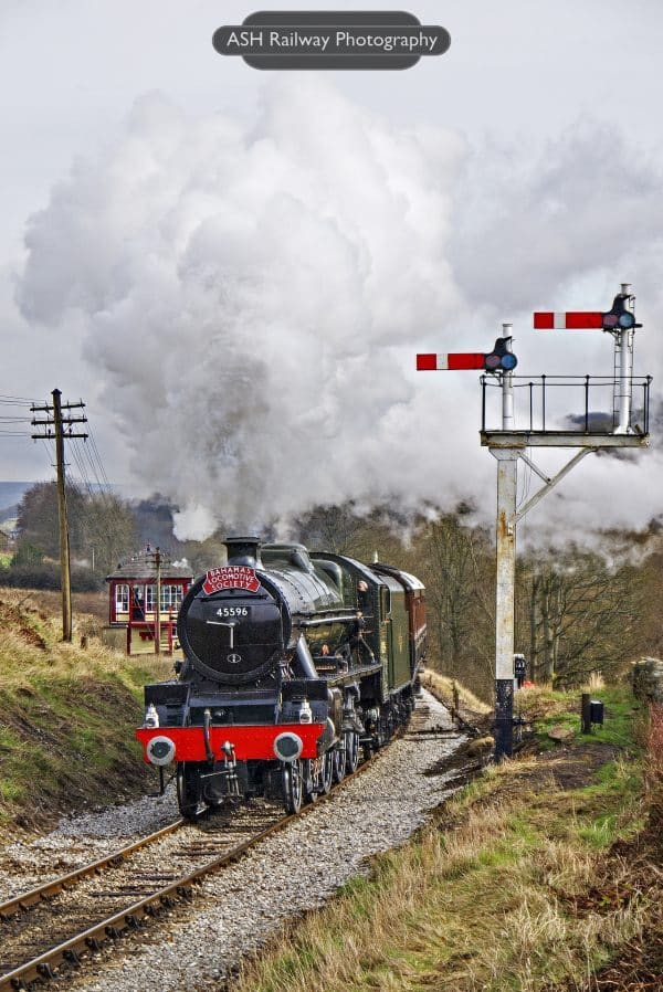 45596 Bahamas at Damems Junction on the Keighley and Worth Valley Railway