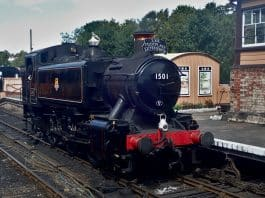 1501 at Bridgnorth on the Severn Valley Railway