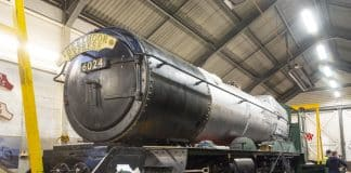 Smokebox Reattached to the Boiler // Credit Martyn Bane