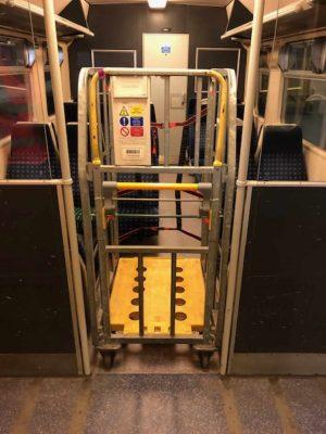 Parcel trains unloading at London Euston