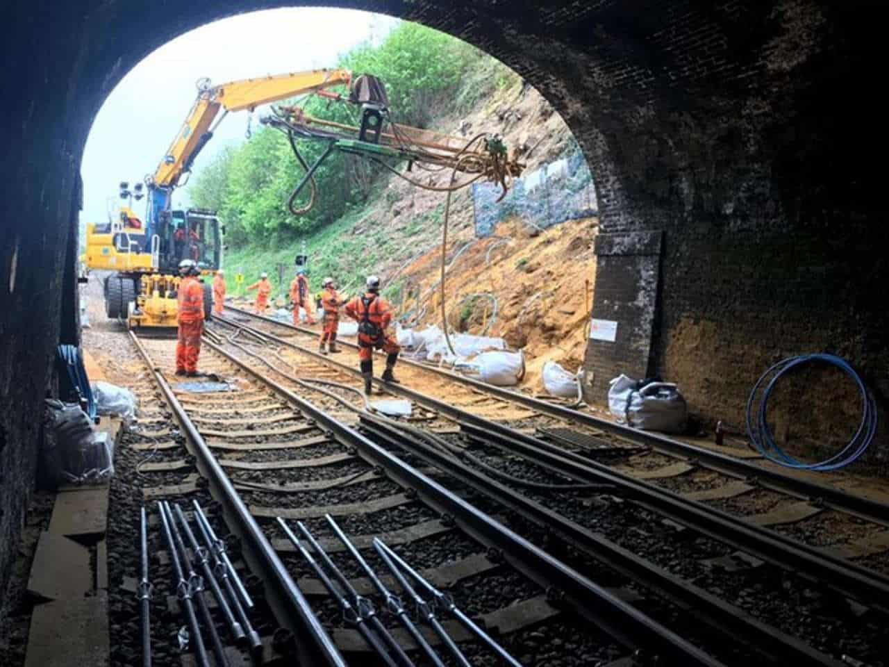 catherines tunnel Guildford railway upgrade