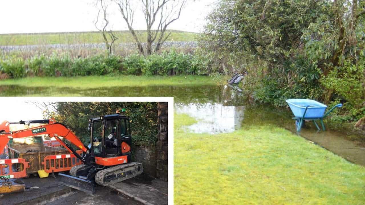 garden flooding Audenshaw