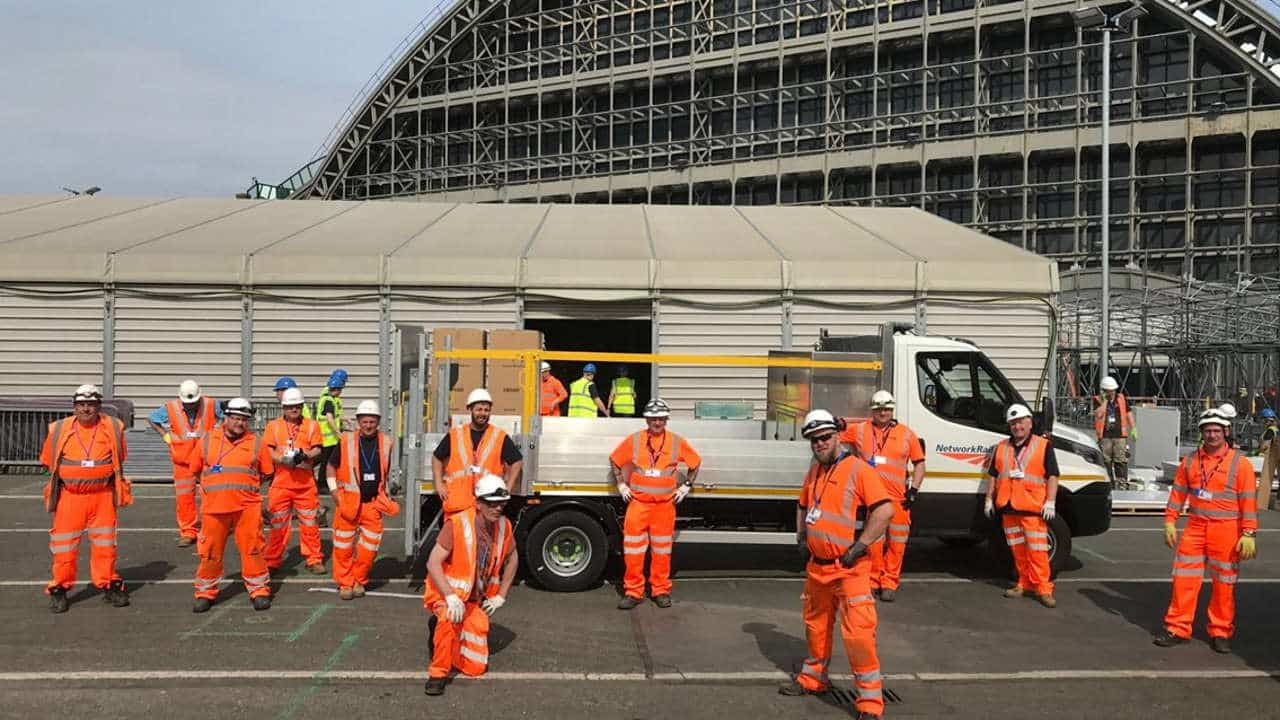 railway staff who helped deliver nhs nightingale
