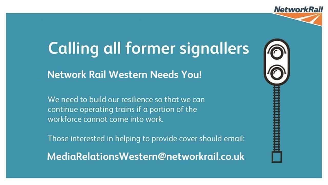 Network Rail signallers western region