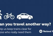 Can you avoid train travel poster
