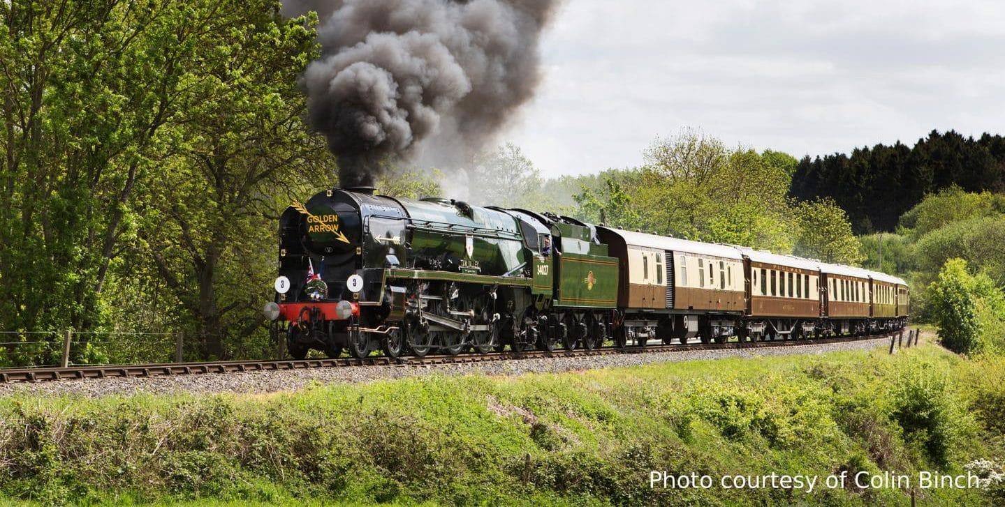 "steam locomotive 34027 ""Taw Valley"" // Credit Colin Binch"