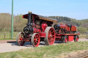 River Mite and steam traction engine