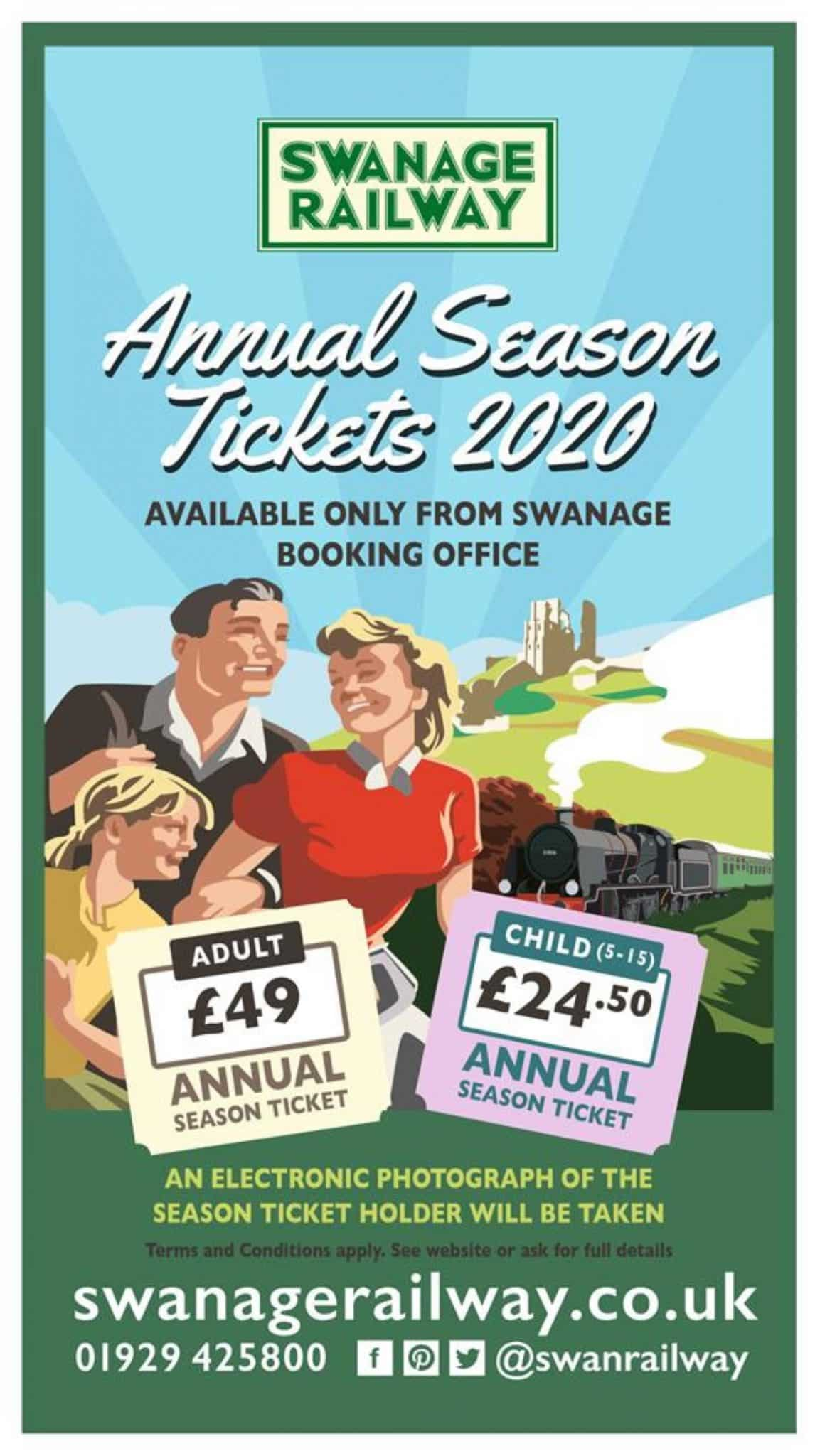 Annual Season Ticket // Credit Swanage Railway
