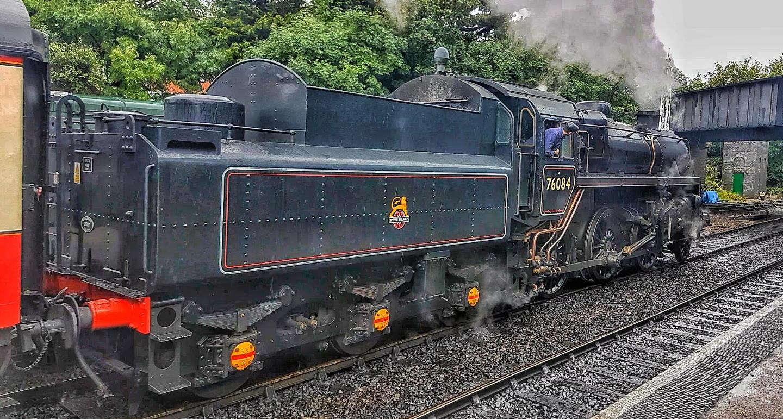 BR Standard 4 4-6-0 No.76084 Departing Sheringham Station // Credit Jamie Duggan, RailAdvent