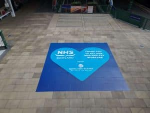 Edinburgh Waverley floor vinyl