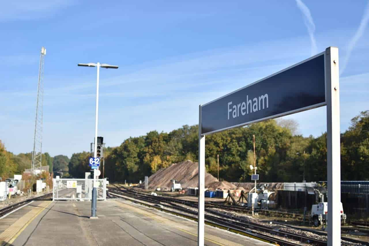 Fareham station, eastleigh line closure