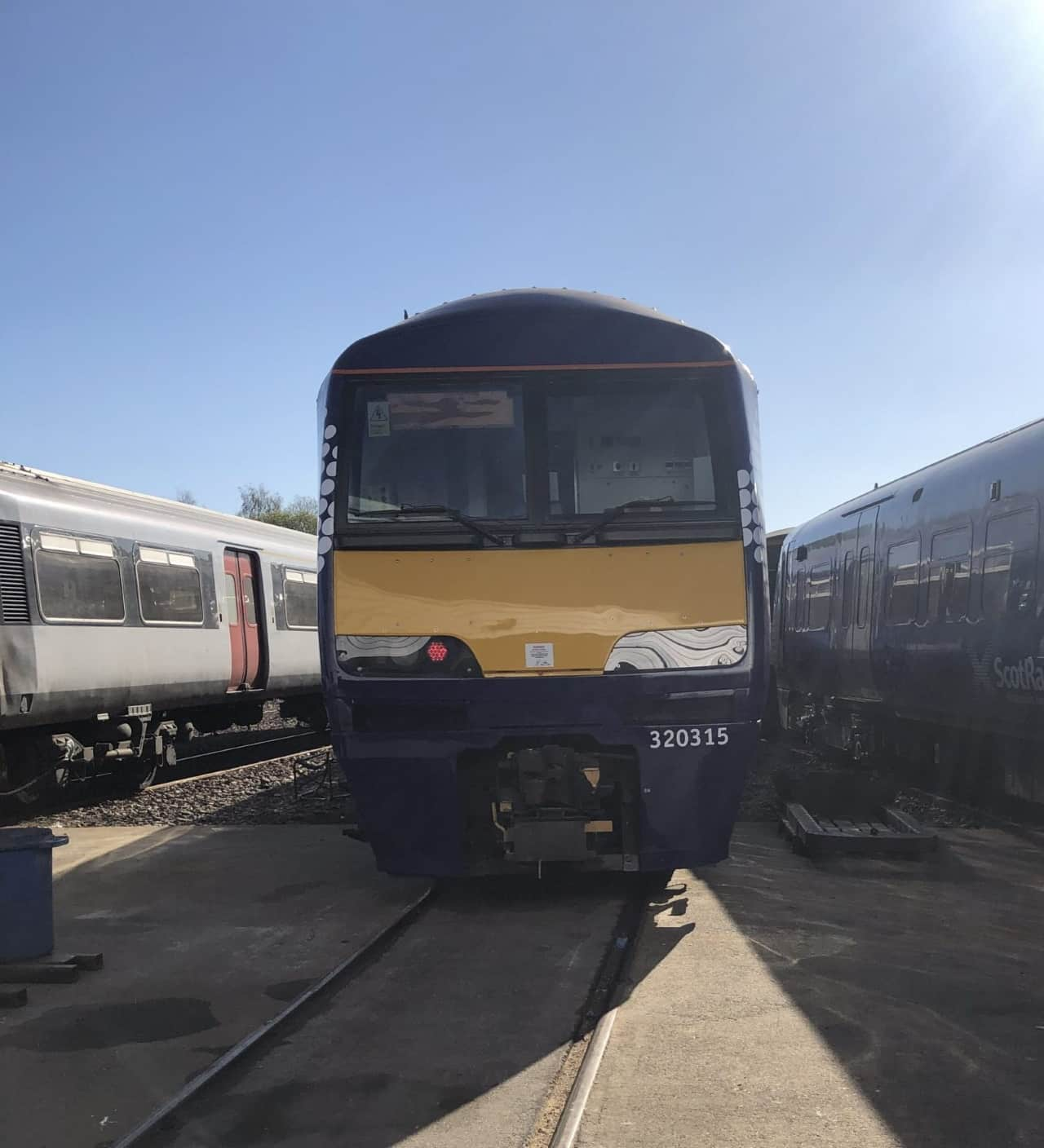 Scotrail Class 320 320315 outside the depot