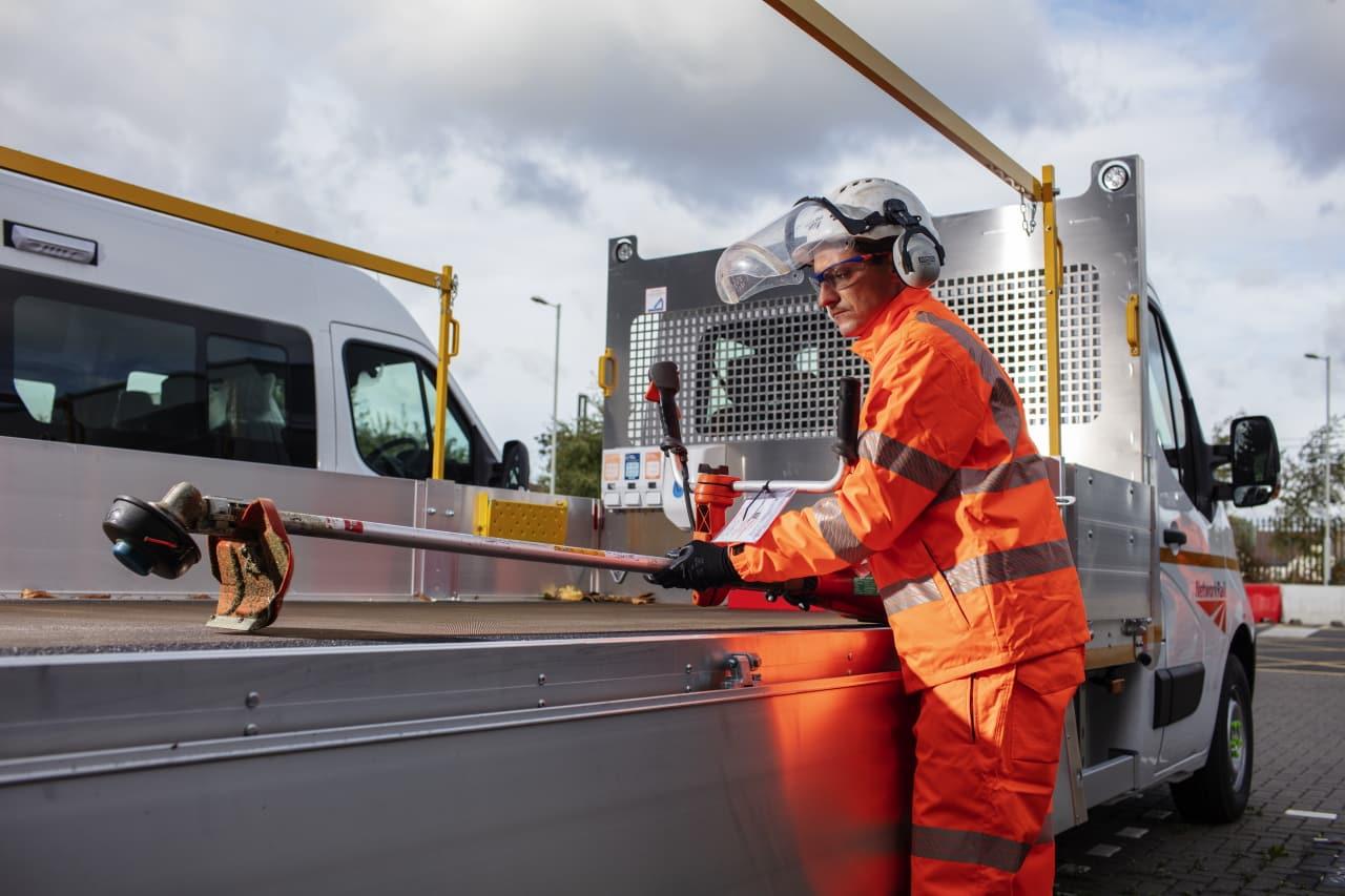 Network Rail maintenance teams Fenchurch Street Work