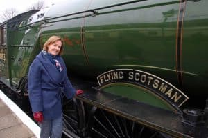 Penny Pegler with Flying Scotsman Swanage 22 March 2019 ANDREW PM WRIGHT (20) (002)