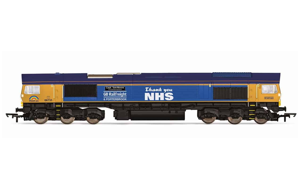 GBRf launch model locomotive after Captain Tom Moore