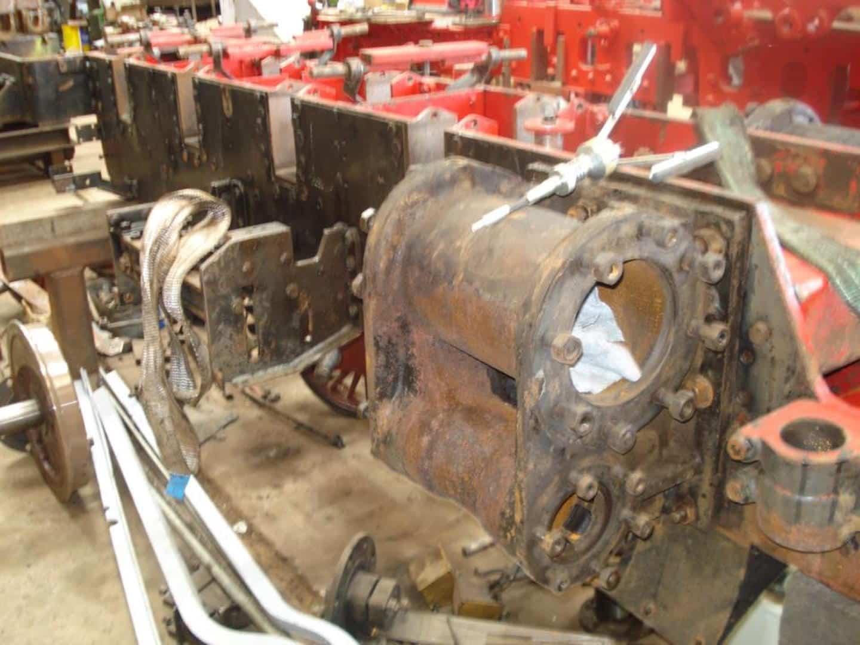 """River Mite""'s Frame Upside Down // Credit Ravenglass & Eskdale Railway Preservation Society"