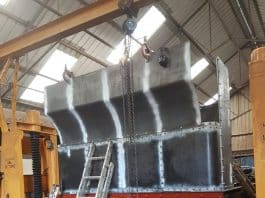 View of Bunker Sections being Fitted // Credit Ed Freeman Steam Locomotive 1466 Overhaul