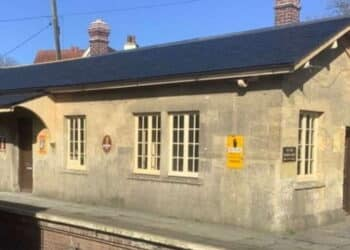 East Somerset Railway Museum completed roof and platform