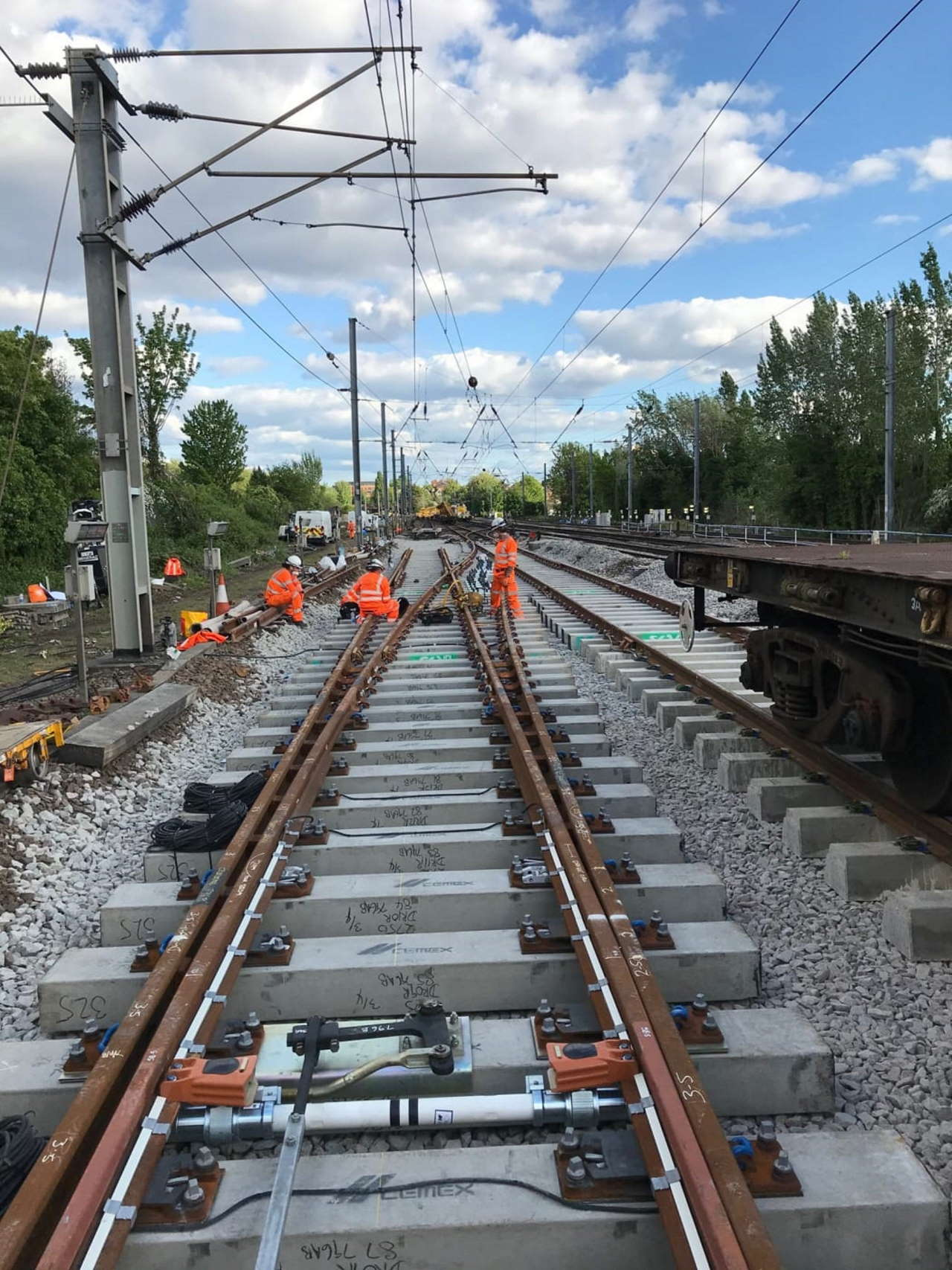 fixing the track