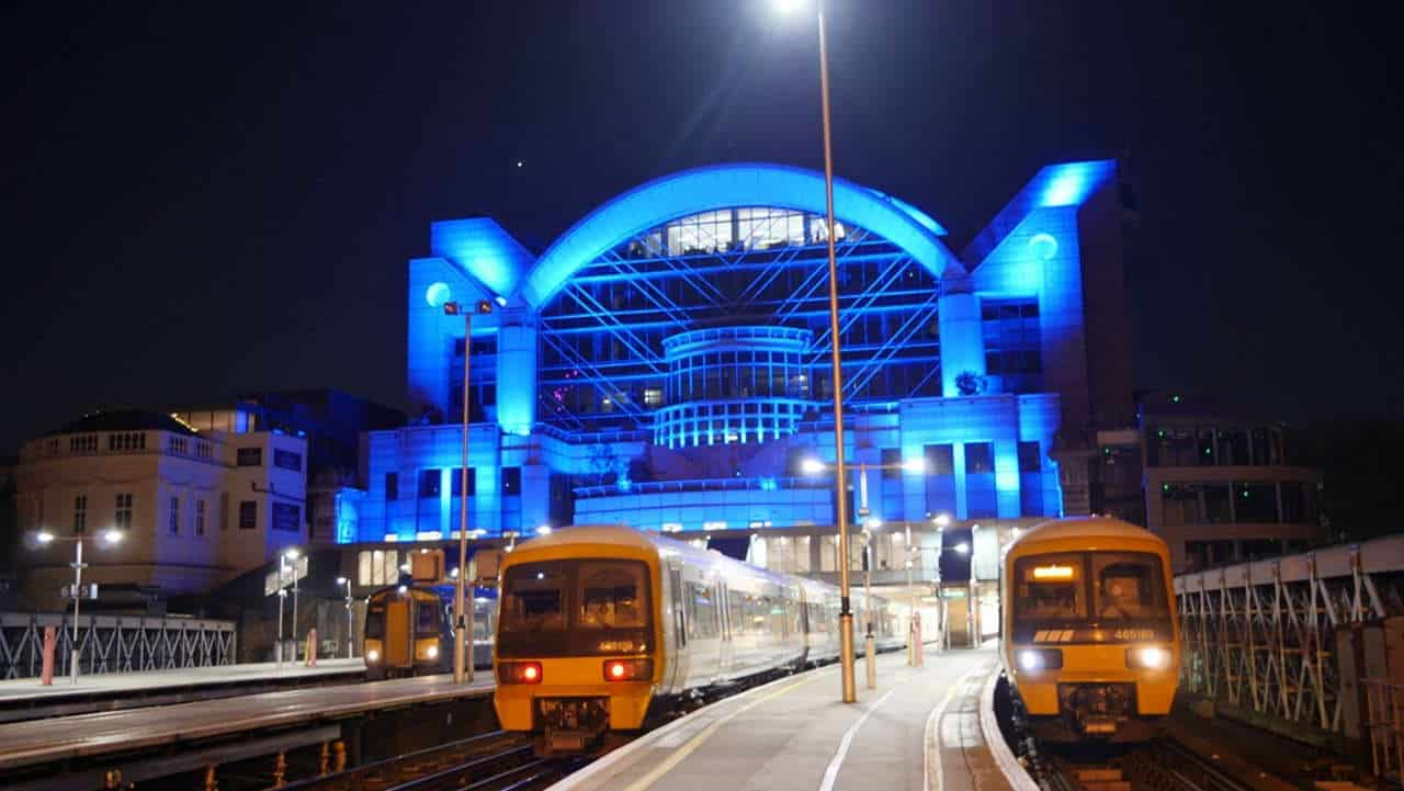 network rail station, celebrity announcements including Gary Lineker