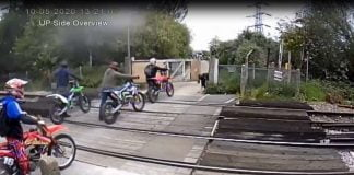 video bikes on the line kent level crossing