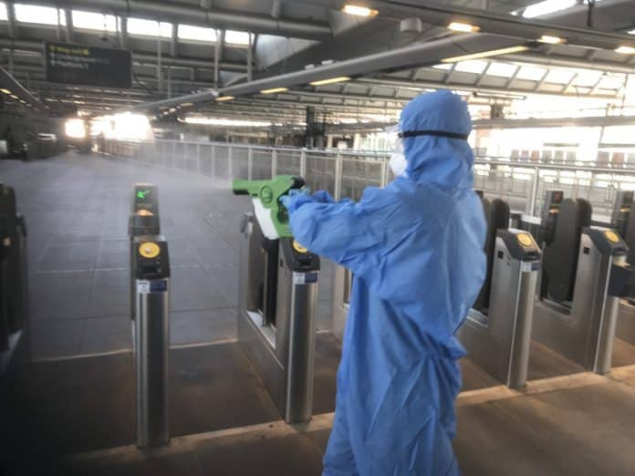 Govia Thameslink Railway uses 30 day coronavirus killer on trains and at stations